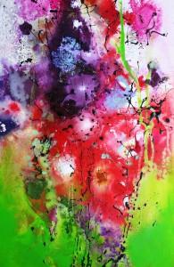 Abstrakte Blumen 60x40cm
