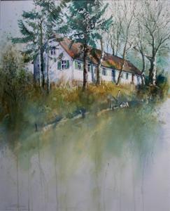 Anwesen in Goldbach 51x41cm