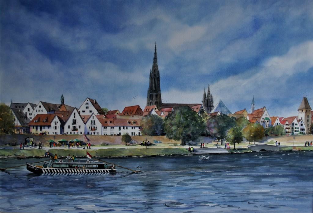 Blick auf Ulm, 46,5x67,5cm