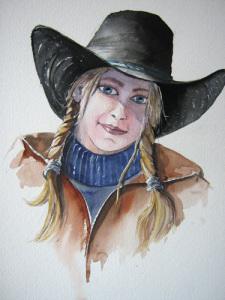 Cowgirl - 50 x 40 cm