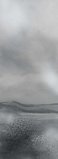 Landschaft 80x30cm