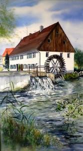 Mühle in Ziemetshausen 68x41cm