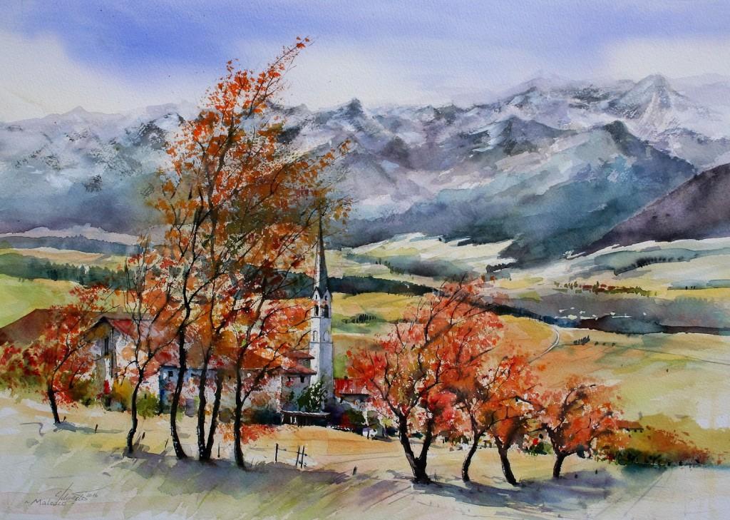 Malosco, Trentino, 35x49cm
