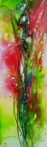 Rote Blumen 90x30cm