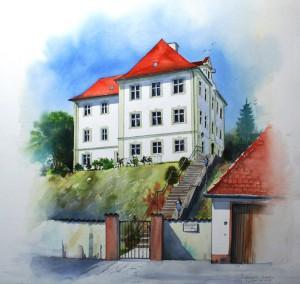 Schloß in Großkötz 48x40cm