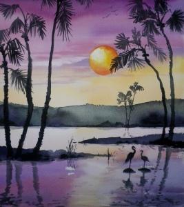 Sonnenuntergang 40x30cm