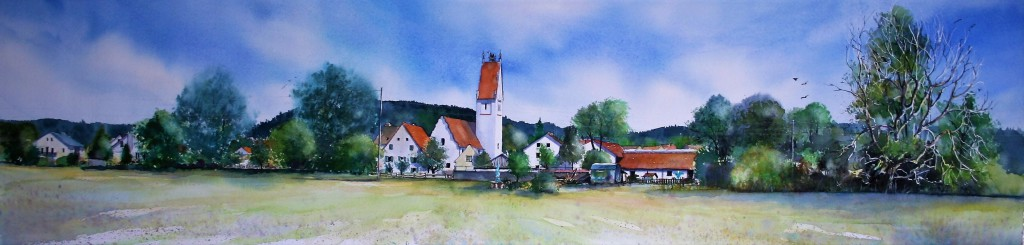 Wörleschwang Panorama 24,5x103cm