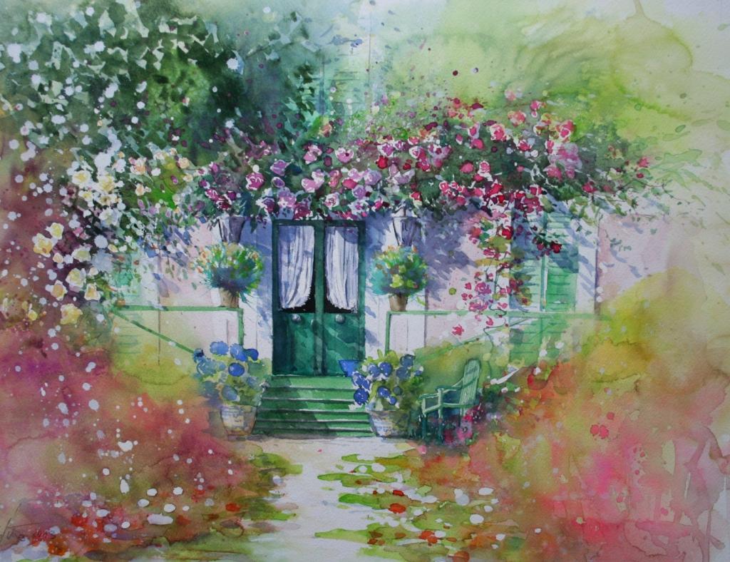 Wohnhaus von Clode Monet, Giverny Normandie 39x48cm