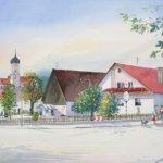 Anwesen in Großkötz 37 x 57 cm
