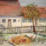 Hof in Haunsheim 37 x 57 cm