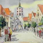 Marktplatz Günzburg 25 x 35 cm