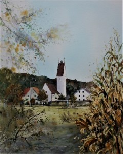 Herbst in Wörleschwang, 51x41cm